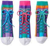 LittleMissMatched Little Miss Matched Girls 4-9 Little Miss Matched 3-pk. Colorblock Sneaker Anklet Socks