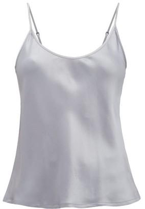 La Perla Silk Camisole - Womens - Dark Grey