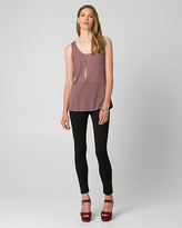 Le Château Viscose Blend Scoop Neck Tank