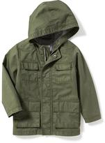 Old Navy Hooded Twill Utility Jacket for Toddler Boys