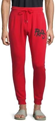 PRPS Logo Cotton-Blend Jogger Pants
