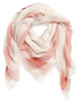 David & Young Women's Plaid Square Scarf