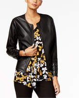 Alfani Grommet-Trim Faux-Leather Jacket, Created for Macy's