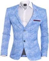 D&R Fashion Blazer Jacket Washed Look Slim Fit Cotton