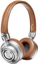 Master and Dynamic MH30 On Ear Headphones Silver/Brown