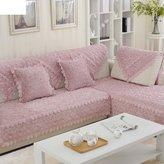 JIN Sofa mats Sofa ushions,fashion ushion fabri,slip short plush sofa