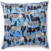 Kate Spade Zebra Silk & Cotton Square Feather Pillow