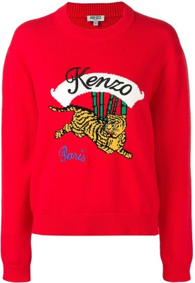 Kenzo Tiger knit jumper