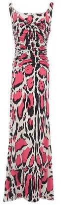 Roberto Cavalli Ruched Leopard-print Stretch-jersey Maxi Dress
