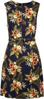 Sugarhill Boutique Regina Palm Print A-Line Dress