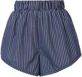 Stella McCartney striped shorts - women - Cotton - 38