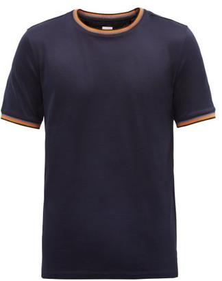 Paul Smith Artist-stripe Crew-neck Cotton-jersey T-shirt - Navy