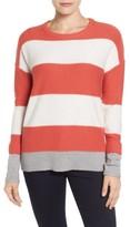 Caslon Women's Contrast Cuff Crewneck Sweater