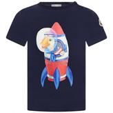 Moncler MonclerBaby Boys Navy Blue Duck Top