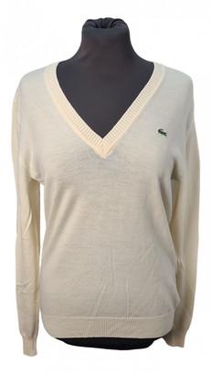 Lacoste White Wool Knitwear