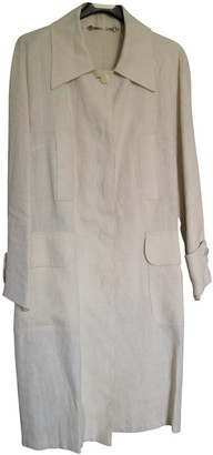 Gucci Beige Linen Trench Coat for Women Vintage