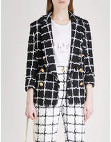 Balmain Checked monochrome woven jacket