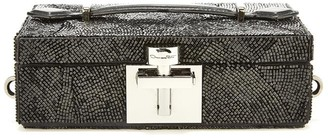 Oscar de la Renta Satin Embroidered Alibi Clutch