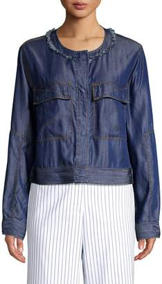 Donna Karan Fringe Denim Jacket