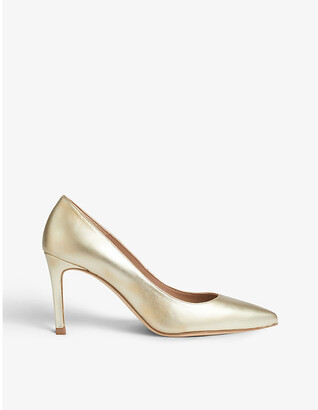 LK Bennett Floret stiletto metallic-leather courts