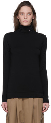Ambush SSENSE Exclusive Black Logo Turtleneck