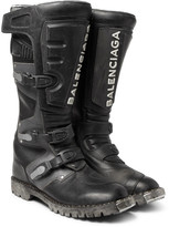 Balenciaga - Leather Motorcycle Boots