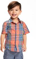 Old Navy Buffalo-Plaid Poplin Shirt for Toddler