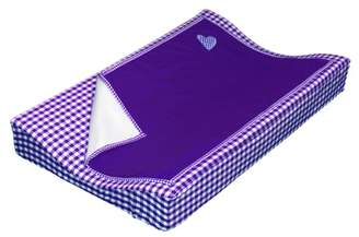 Taftan Hearts Checks Changing Pad Cover Set 72 x 44cm (Purple)