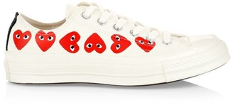 Comme des Garcons Multi Heart Low-Top Canvas Sneakers