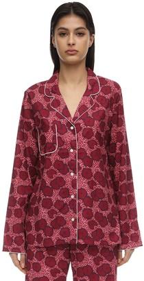 Derek Rose Ledbury Batiste Long Cotton Pajama Set