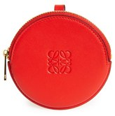 Loewe Women's Round Leather Bag Charm - Red