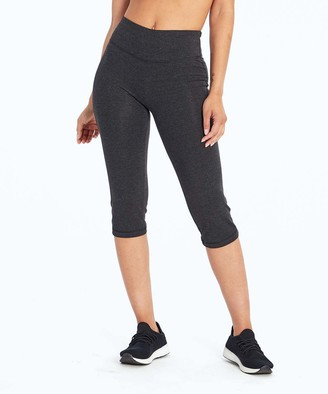 Zoey Marika Women's Active Pants heather - Heather Charcoal 19'' Tummy Control Relaxed-Fit Crop Pants - Women