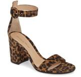 Gianvito Rossi Leopard Print Ankle Strap Sandal