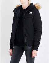 The North Face Ladies Black Classic Faux-Fur-Trimmed Shell-Down Jacket