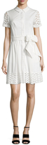 Shoshanna Cotton Laced Above The Knee Dress