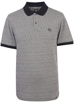 Pretty Green Belmont Short Sleeve Polo Top, Black