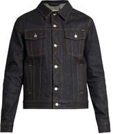 Ami Zigzag-stitched denim jacket