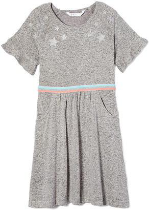 Aeropostale p.s. from Girls' Casual Dresses LTGRE - Light Gray Heather Stripe Tape-Accent Shift Dress - Girls