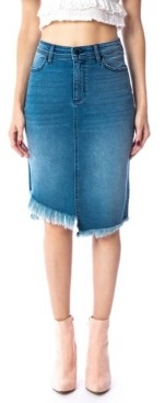Kancan Mid Rise Asymmetrical Midi Skirt
