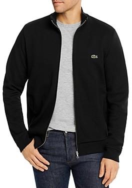 Lacoste Brushed Pique Fleece Full-Zip Sweatshirt