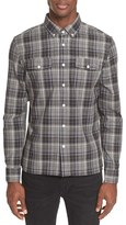 Saturdays NYC Men's Slim Fit Javas Plaid Shirt