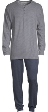 Hanes Men's 1901 Henley and Jogger Pant Set