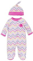 Offspring Infant Girls' Zigzag Dot Footie & Hat Set - Sizes Newborn-9 Months