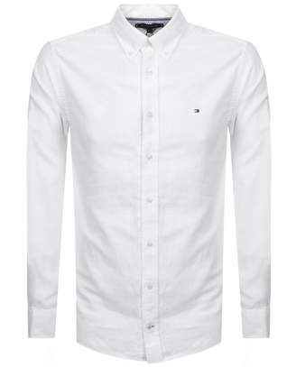 Tommy Hilfiger Long Sleeved Dobby Shirt White