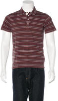 Billy Reid Striped Woven Polo w/ Tags
