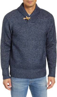 Schott NYC Toggle Shawl Collar Sweater