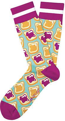 Butter Shoes Two Left Feet Sock Co. Socks MULTI - Purple & Blue Peanut & Jelly Sandwich Socks - Adult