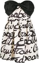 Elisabetta Franchi strapless bow mini dress