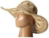 San Diego Hat Company PBL3069 Open Weave Mixed Colored Pattern Floppy Hat