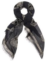 Alexander McQueen Stained Glass Multi-Skull Scarf